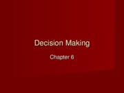 Class 16 Decision Making