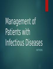 RNSG 1331 Management of Patients with Infectious Diseases.pptx