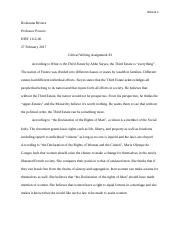 Critical Writing 3