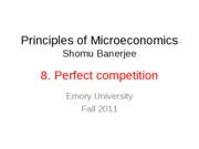 8. Perfect Competition