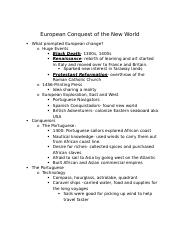 European Conquest of the New World Lecture 1 US History.docx