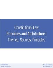 Constitutional Slides 1 2016-17 Themes, Sources, Principles