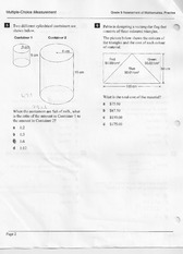 Sample Test For Mathematics Word Problems