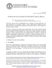 Note_on_Valuation_of_Venture_Capital_Deals