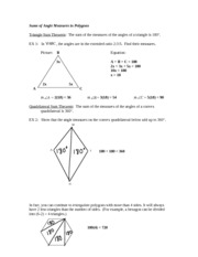 Sums of Angles Measures in Polygons Notes