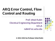 Section 5 Error, Flow and Routing Control