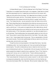 coy and time essay