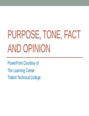 Purpose, Tone, Fact and Opinion (1).pptx