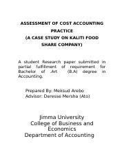 ASSESSMENT OF COST ACCOUNTING PRACTICE.docx