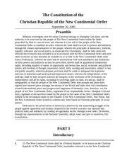 Constitution of the NCO