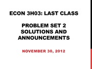Final Class problem set solutuons and annoucements