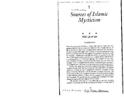 Sells-Scriptural Sources of Islamic Mysticism
