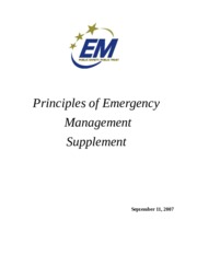 Principles of Emergency Management Brochure