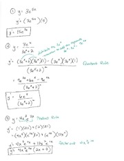 C. Stevens Business Calculus II Mid Term Review Work