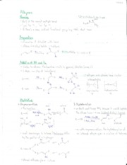 notes on Alkynes
