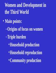 10a Women and Development in the Third World vers3.ppt