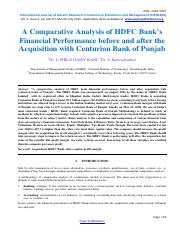 A Comparative Analysis of Hdfc Banks-94