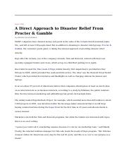 17_A Direct approach to disaster relief from P&G NYT 060211.docx