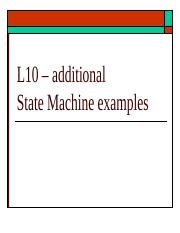 ECE 3561 - Lecture 10a additional State Machine examples