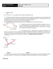 Problem Set (additional) - VECTORS