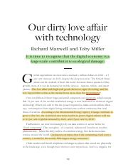Our Dirty Love Affair with Technology