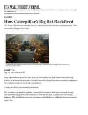 How+Caterpillar's+Big+Bet+Backfired+-+WSJ
