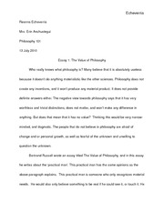 Essay_1_The_Value_Of_Philosophy
