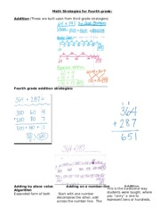 Math Strategies for Fourth grade-1