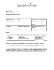 HUM 100 Worksheet Cultures and Artifacts (1).docx