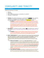 Osmolarity and Tonicity Email