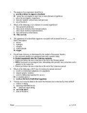 Biol1510 Exam 1 sample questions