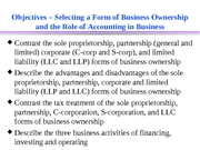 formofbusinessroleofaccountingACC200