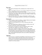 Essay exegetical