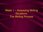 Week 1 - Assessing Writing Situations - Part 2