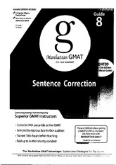 Manhatan GMAT Guide 8 Sentence Correction