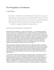 j gay williams wrongfulness euthanasia Reference: james reaches, active and passive euthanasia j gay-williams, the wrongfulness of euthanasia related posts: ethical stance on pro-euthanasia.