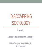 Ch. 1 - Discovering Sociology