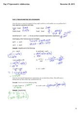 Trigonometric relationships
