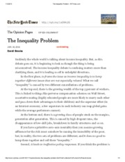 David Brooks, The Inequality Problem - NYTimes.pdf