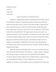 chapter 3 summaries econ 305