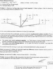 CE 365 Lecture on Branching Pipe