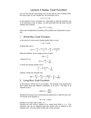 Lecture 3 Notes, Cost Function