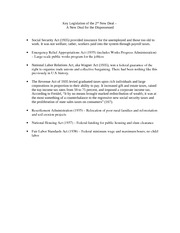 Key Legislation of the 2nd New Deal
