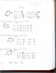 Triangular Sin, Cos and Tangent Problems