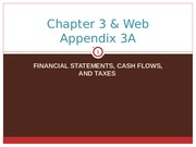 Financial Statements, Cash Flows, and Taxes Lecture