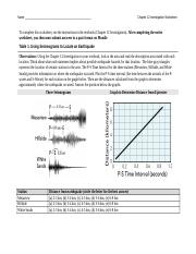 Assignment #4A Earthquake Investigation Reynolds