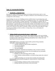 Topic Summary Sustainable Building Revised.docx