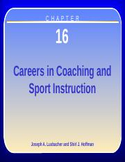 Chapter 16 Coaching and Sport Instruction(1)