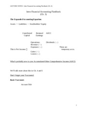 LECTURE NOTES - ch3
