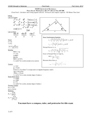 ES230-Final-Exam-2012 on Strength of Materials